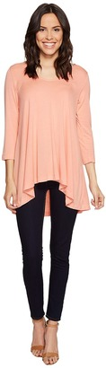 Nally & Millie - Rounded V-Neck Tunic Women's Blouse $76 thestylecure.com