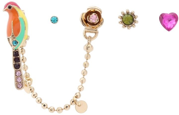 Betsey Johnson A Day At The Zoo Bird 5-Set Earrings (Multi) - Jewelry