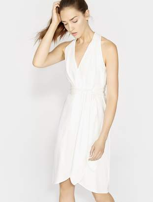 Halston Halter Belted Wrap Dress