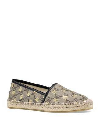 5c32f50710a Gucci Flat Pilar GG Espadrille With Bees