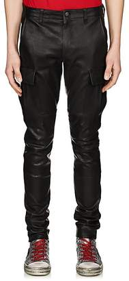 Amiri Men's Leather Skinny Cargo Pants