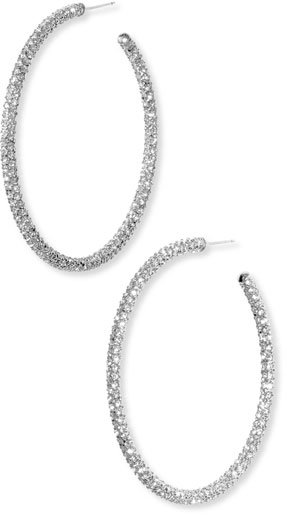 Nadri Large Pavé Hoop Earrings