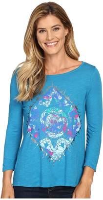Lucky Brand Mandala Watercolor Tee Women's T Shirt
