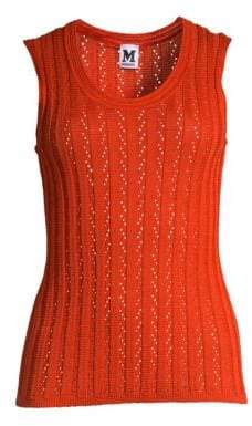 M Missoni Women's Knit Tank Top - Bright Red - Size 40 (4)