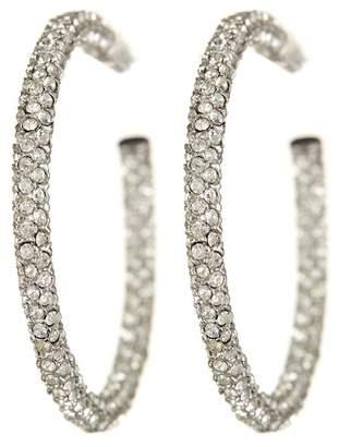 Nadri Micropave Crystal 35mm Hoop Earrings