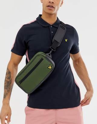 Lyle & Scott Fitness sports bum bags in khaki