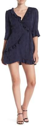 Line & Dot Millie Ruffle Wrap Mini Dress