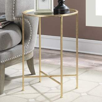Convenience Concepts Gold Coast Julia Mirrored End Table, Gold