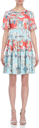 Blugirl Pinup Tiered Shift Dress