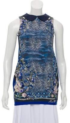 Miss Blumarine Printed Sleeveless Tunic