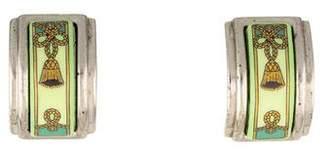Hermes Enamel Clip-On Earrings