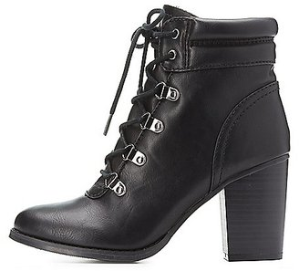 Lace-Up Chunky Heel Combat Booties $42.99 thestylecure.com