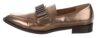 Aquatalia Metallic Pointed-Toe Loafers