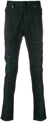 Balmain snake print jeans