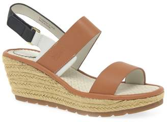 Fly London Tan Leather 'Ekan' Wedge Sandals