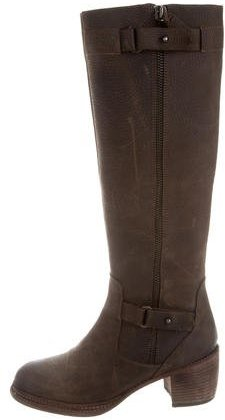 Vera Wang Leather Knee-High Boots