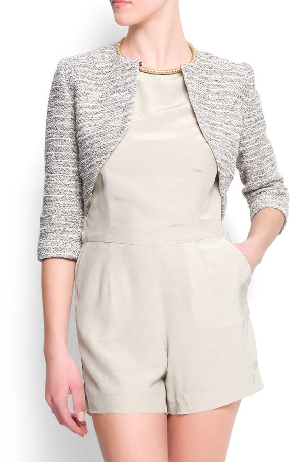 MANGO Metallic knit bolero