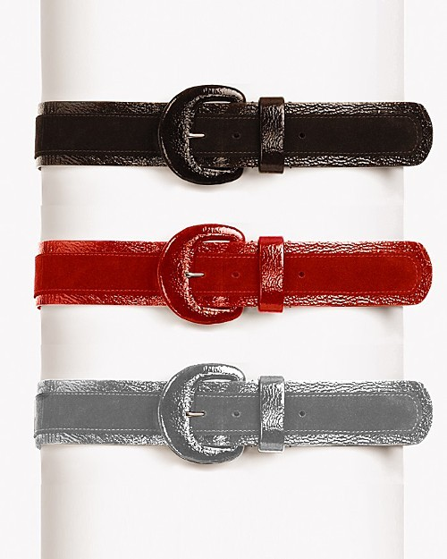 Via Spiga Suede Belt