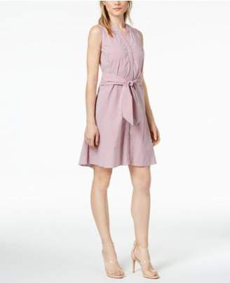 Bar III Striped Tie-Front Dress, Created for Macy's