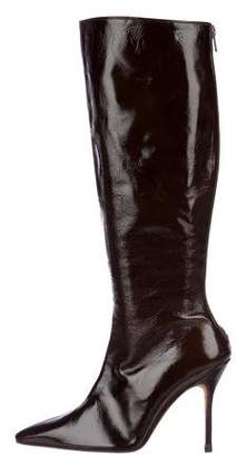 Manolo Blahnik Patent Leather Knee-High Boots