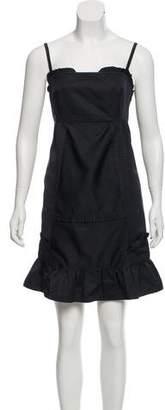 Miu Miu Satin Ruffle Dress