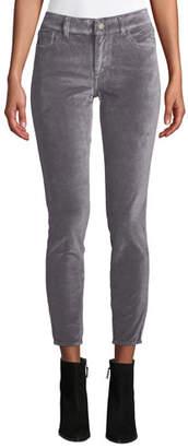 DL1961 Premium Denim Florence Velvet Ankle Mid-Rise Skinny Jeans