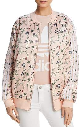 adidas Reversible Floral Print Bomber Jacket