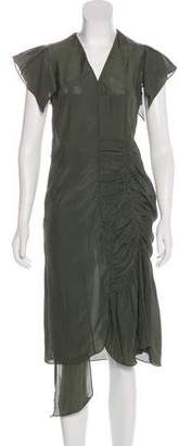 Marni Ruched-Accented Midi Dress
