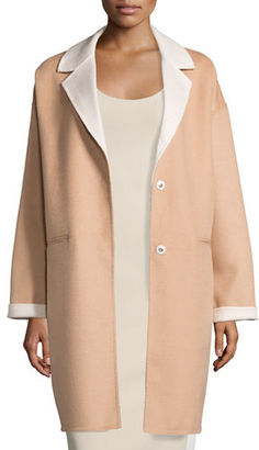 Kate Spade New York Double-Face Wool-Blend Cocoon Coat $428 thestylecure.com
