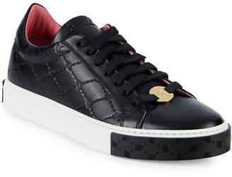 Blumarine Logo Cross Leather Sneaker