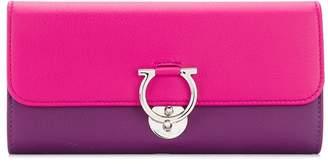 Salvatore Ferragamo two-tone Gancio lock wallet