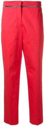 Fabiana Filippi cropped straight-leg trousers