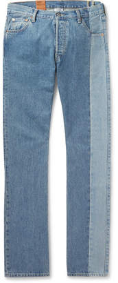 + Levi's 501 Slim-Fit Panelled Denim Jeans