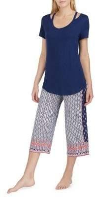 Ellen Tracy Geometric Print Pajamas