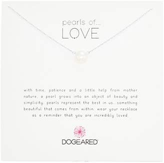 Dogeared Pearls of Love Sterling and Pearl Necklace