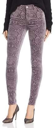 J Brand Maria Velvet Skinny Jeans in Snakebite