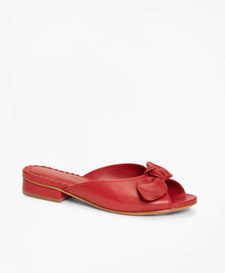 Brooks Brothers Leather Slide Sandals