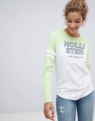 Hollister logo long sleeved t-shirt