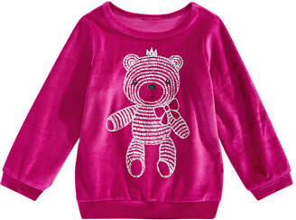 First Impressions Baby Girls Bear-Print Velour T-Shirt, Created for Macy's