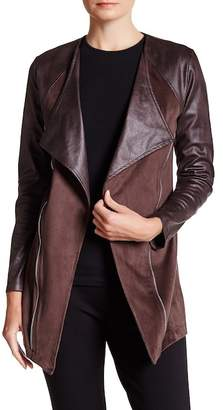 Insight Faux Leather & Faux Suede Jacket
