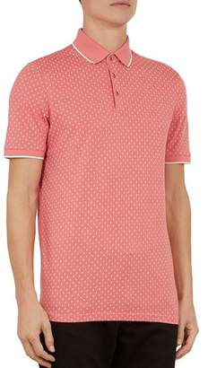 Ted Baker Toff Geo-Print Regular Fit Polo Shirt