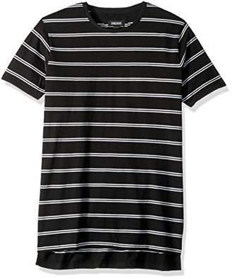 Zanerobe Men's Elongated Split Side Stripe Flintlock Short Sleeve Tee Shirt