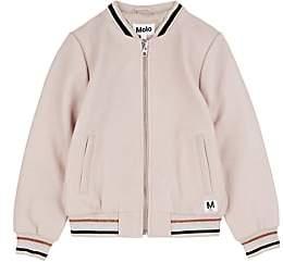 Molo Kids Kids' Haliva Leather Bomber Jacket-Pink