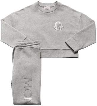 Moncler Cropped Sweatshirt & Sweatpants