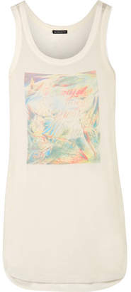 Ann Demeulemeester Printed Stretch-jersey Tank Top - Cream