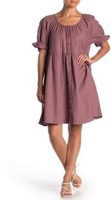 Susina Ruffled Sleeve Button Down Dress (Regular & Petite)