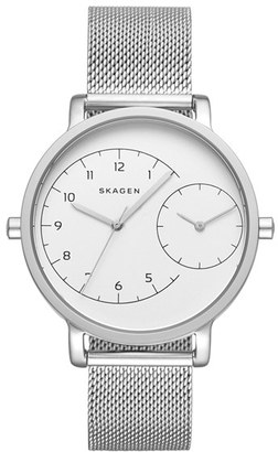 Skagen 'Hagen' Mesh Strap Watch, 36mm $195 thestylecure.com