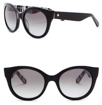 Kate Spade Melly 53mm Round Cat Eye Sunglasses