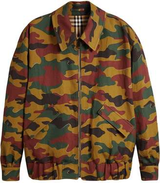 Burberry Ramie-cotton Reversible Harrington Jacket