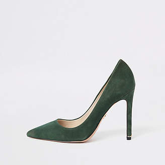 River Island Green suede pumps